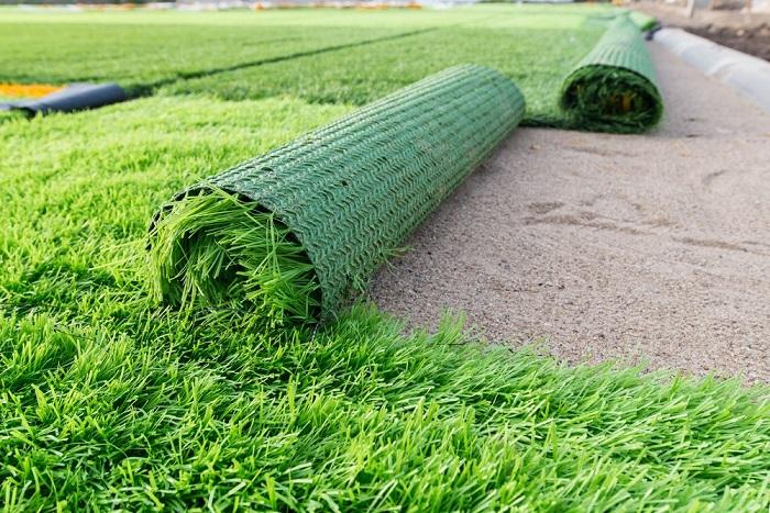 grama artificial - 12 IDEIAS De Projeto de Jardim para uma ÁREA DE PISCINA