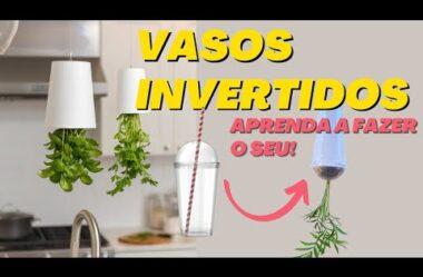 VASOS INVERTIDOS – APRENDA A PLANTAR EM VASOS SUSPENSOS – PASSO A PASSO COMPLETO