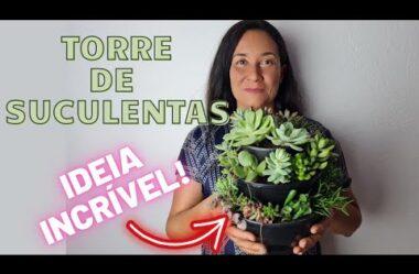 TORRE DE SUCULENTAS   Confira a Montagem desta Ideia INCRÍVEL!